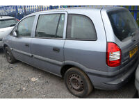 2004 - VAUXHALL ZAFIRA 1.6 - PETROL - MANUAL - BREAKING for SPARE PARTS
