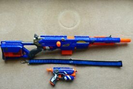 Longstrike CS-6 and Firestrike Nerf guns