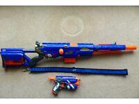 Longstrike CS-6 and Firestrike Nerf guns