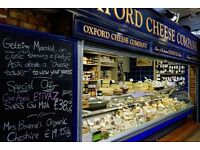 Sales Assistant Cheese Shop Part or Full time