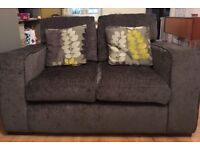 DFS 2 seater sofa charcoal grey
