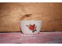 Phoenix Opalware Red Rose Mini Mixing Bowl retro vintage