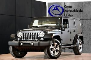 2016 Jeep WRANGLER UNLIMITED Sahara 4X4 CUIR COLORMATCH NAV 239$