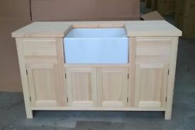 Solid Pine Sink Kitchen Unit INCLUDING new Belfast Sink