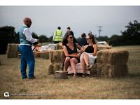 Hay Bale Sofa Hire - Event / wedding seating or tables- Delivery Nationwide