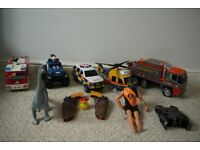 Ambulance, Helicopter, Refuse, Fire Engine and other toys Christmas gift