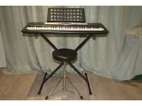 Yamaha psr E213 Very good condition,includes legs,stool and music stand.