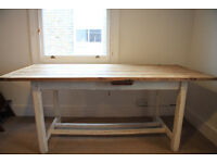 Antique Farmhouse Dining Table in Pine, Shabby Chic