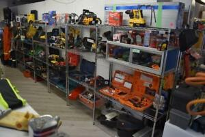 Lots of Excellent deals on New and Used Power Tools at HBS-Hydrostone- 3081 Gottingen St (10am-6pm Mon-Sat 12-5pm Sun)