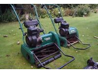 Suffolk Punch 17s Cylinder Mower / Qualcast Classic 35s Mower + Scarifiers