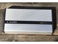 JL AUDIO JX360/4 AMP and JL AUDIO SLOT PORTED BASS WEDGE IN GOOD WORKING ORDER, NO WIRES