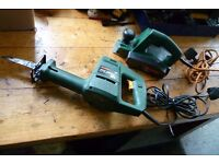 Bosch Electric Planer and Reciprocating Saw