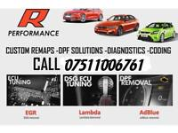 WE REMAP ANY CAR @ R PERFORMANCE MOBILE SERVICE DPF REMOVAL EGR DELETE