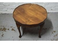 coffee table with pie crust edging (DELIVERY AVAILABLE)