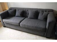 3 seater Sofa - charcoal