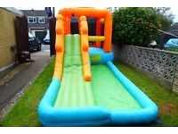 giant airflow bouncy castle/water slide - compliments little tikes toys