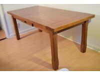 Extra Large Solid Oak Dinner Table For Sale