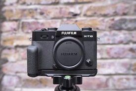 Fujifilm X Series X-T10 with Fujifilm MHG-XT10 Metal Hand Grip