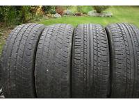 Four tyres 185/ 55-R16 , Bridgestone and Dunlop