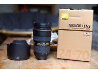 Nikon Nikkor AF-S 24-70mm f/2.8 N professional standard zoom lens - Great condition!