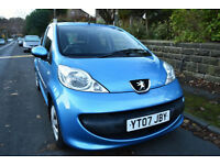 2007 PEUGEOT 107 1.0 12v URBAN 5DR **2 LADY OWNERS** **FSH - 10 STAMPS**
