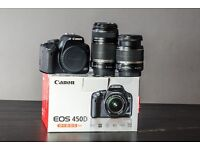 Digital Camera Canon 450D with two lenses 18-55 mm and 55 - 250 mm