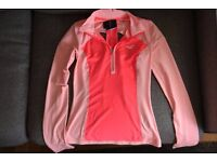 Hollister activewear long-sleeved neon pink top, in size S
