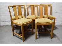 Five oak dining chairs (DELIVERY AVAILABLE)