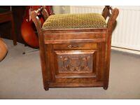 Victorian mahogany piano stool £75 ono