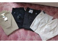 Mens Trousers. Various, most brand new. 30 inch Waist, Regular length. From £7 new or £4 worn.
