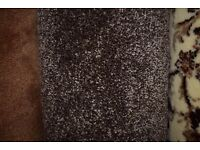 100% Polypropylene Carpet Chunky Saxony Light Brown 3m x 4m (137)