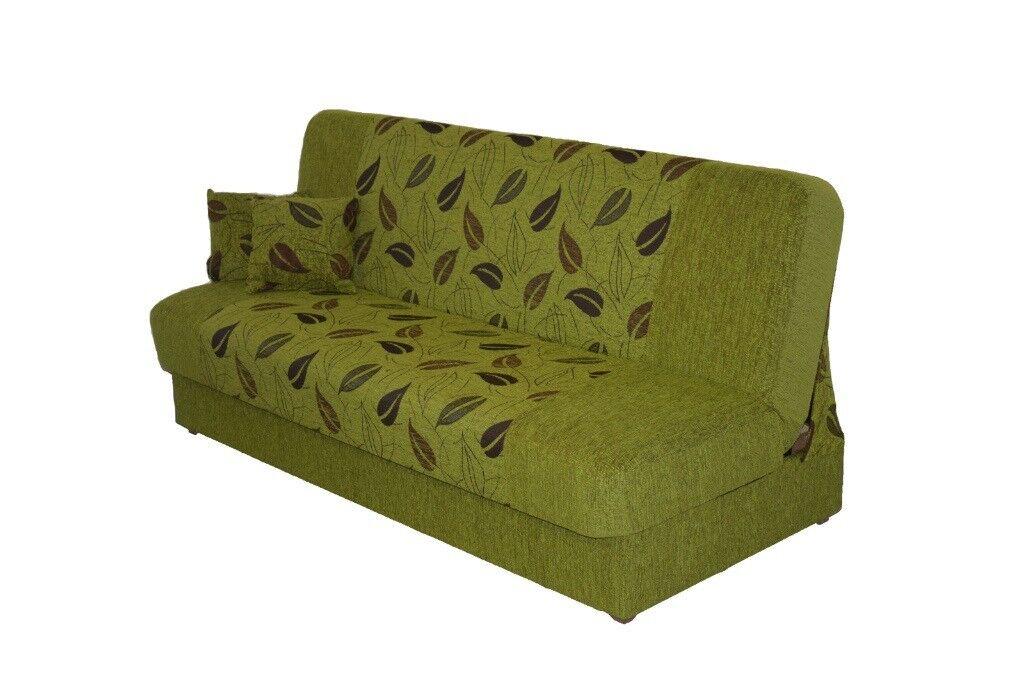 New Sofa Bed Couch Settee With Storage And Bonell Springs Mattress Polskie Wersalki Wersalka