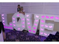 Wedding/birthday LED letters/numbers for hire