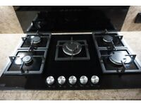 Black Glass Hob - 5 burner (Cooke & Lewis)