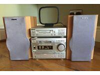 Sony Stereo system - CD/MINI Disk/Tape/FM radio