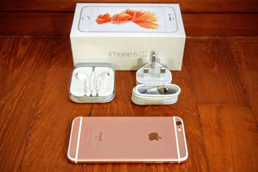 Iphone 6S ROSE GOLD 16 gb. BOXED UP UNLOCKED EXCELLENT CONDITIONin Ilford, LondonGumtree - Iphone 6s Rose gold/White 16gb memory Boxed up with all accessories. Factory unlocked. Phone is In excellent condition. My sister now has a iphone 7 so selling this one. Can buy from my home Manor park E12 for peace of mind. And i can give receipt....
