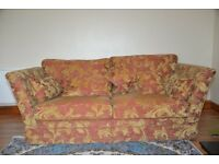 Chartwell Rust Fabric 3 Seater Sofa