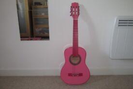 Pink guitar