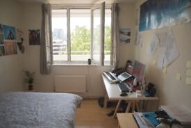 Double bedroom with great view of the City of London.