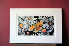 Limited edition signed butterfly print