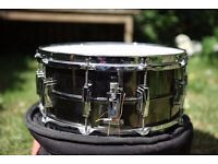 "Vintage Ludwig Black Beauty snare drum 14"" x 6.5"""