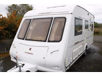 COMPASS LIBERTE 5 BERTH 2004, MINT CONDT, INCLUDES EVERYTHING YOU NEED TO HITCH & GO + NEW AWNING
