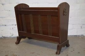 Vintage mahogany magazine rack (DELIVERY AVAILABLE)