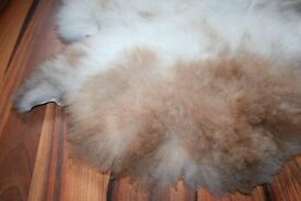 New Organic Sheepskin Rug With Spots XL