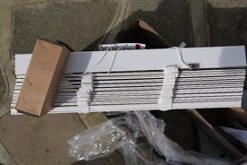 White Wood Venetian Blind with fittings - new