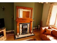 Victorian fireplace surround and mirror