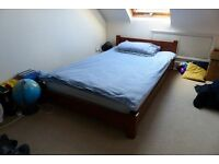 Low wooden single bed - perfect condition