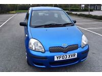 2003 TOYOTA YARIS 1.0 VVTI **FSH - 12 STAMPS** **2 OWNERS FROM NEW** **HPI CLEAR**