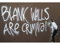 Banksy Poster Blank Walls Are Criminal Street Art A2 Size Paper Laminated Encapsulated Print
