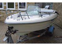 2008 Terhi 4110 Boat with Yamaha 4-stroke 25hp Outboard
